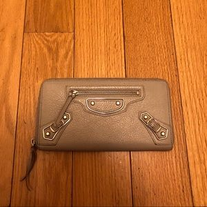 Gray Balenciaga Wallet